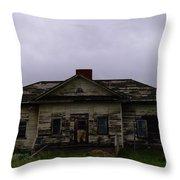 An Old Montana School House Throw Pillow