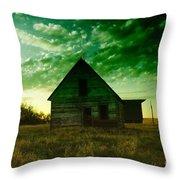 An Old North Dakota Farm House Throw Pillow