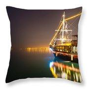 an Old Pirate Ship Throw Pillow
