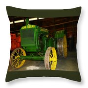 An Old Restored John Deere Throw Pillow