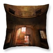 An Old Ruined Building Throw Pillow