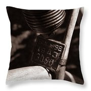 An Old Rusty Bicycle Throw Pillow