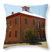 An Old School In White Oaks New Mexico Throw Pillow