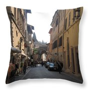 An Old Street In Assisi Italy  Throw Pillow