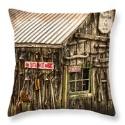 An Old Tool Shed Throw Pillow