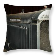 An Old Tractor Throw Pillow