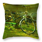 An Old Two Seater Throw Pillow
