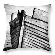 An Old Wreck Throw Pillow