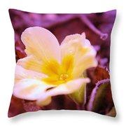 An Open Bud Throw Pillow