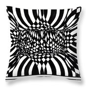 An Optical Illusion Throw Pillow