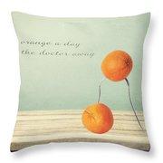 An Orange A Day Throw Pillow