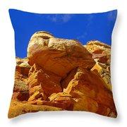 An Orange Boulder Throw Pillow
