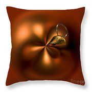 An Orb Of Orange Throw Pillow by Anne Gilbert