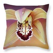 An Orchid Throw Pillow