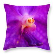 An Orchid's Delicates Throw Pillow