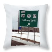 An Orderly Junction Throw Pillow