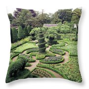 An Ornamental Garden Throw Pillow