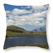 An Teallach From Loch Droma Throw Pillow