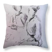 Ana And Patrick Ni Throw Pillow