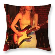 Guitarist Ana Popovic Throw Pillow