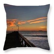 Anacapa Island Pier Throw Pillow