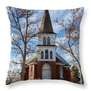 Anaconda Christian Church Throw Pillow