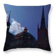 Anaglyph Church Throw Pillow