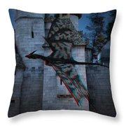Anaglyph Dragon Throw Pillow