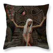 Anaglyph Elfa Throw Pillow