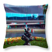 Anaglyph Modern Sculpture Throw Pillow