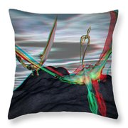 Anaglyph Quetzalcoatlus Throw Pillow