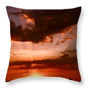 Anaheim Sunset Throw Pillow