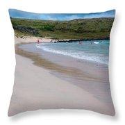Anakena Sand Throw Pillow