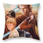 Anakin Skywaler Tatooine Throw Pillow