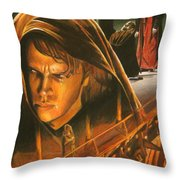 Anakin Turns To The Dark Side Throw Pillow