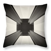 Analog Photography - Berlin Abstract Architecture Throw Pillow