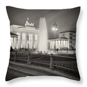 Analog Photography - Berlin Pariser Platz Throw Pillow