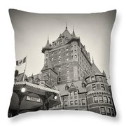 Analog Photography - Chateau Frontenac Quebec Throw Pillow