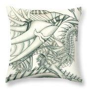 Anare'il The Chaos Dragon Throw Pillow