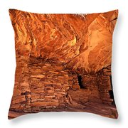 Anasazi  Cliff Dwelling Throw Pillow