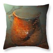 Anasazi Cooking Pot Throw Pillow
