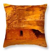 Anasazi Ruins  Throw Pillow by Jeff Swan