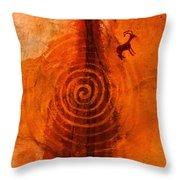 Anasazi Spirals  Throw Pillow