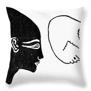 Anatomy: Human Cranium Throw Pillow
