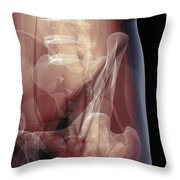 Anatomy Of The Hip Joint Throw Pillow
