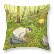 Ancestors Throw Pillow by Lilibeth Andre