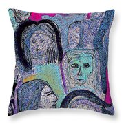 Ancestral Cave Throw Pillow