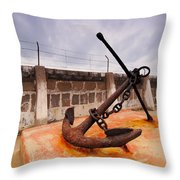 Anchor In La Canal Throw Pillow