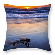 Anchor Ocean Beach Throw Pillow