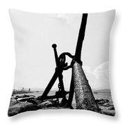 Anchor Of Saint Tropez Throw Pillow